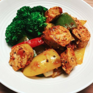Chicken Sausage & Peppers Low Carb